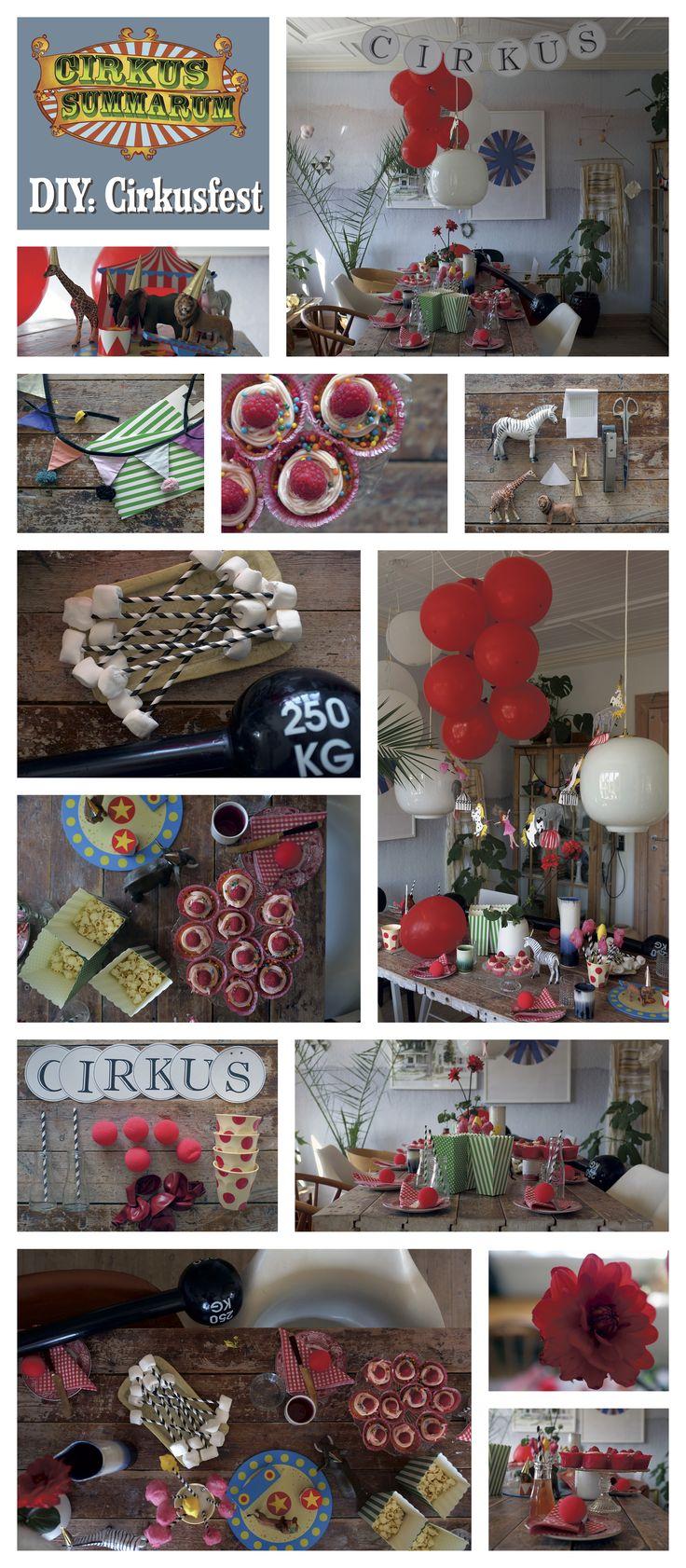 Så er det tid til at holde cirkusfest for alle vennerne!  Læs mere påwww.cirkussummarum.dk    Tak til @myhouseins for at lave denne DIY :)