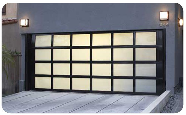 Glass & Aluminium Sectional Garage Doors | Products | Silvertondale, Pretoria | Aladdin Garage Doors | Silvertondale, Pretoria