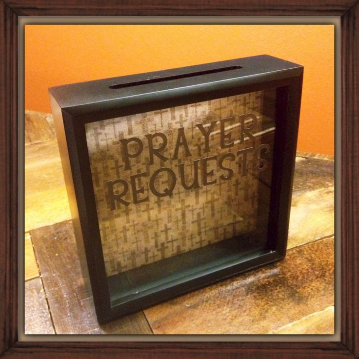 A personal favorite from my Etsy shop https://www.etsy.com/listing/219217896/prayer-requests-box-church-camp-youth