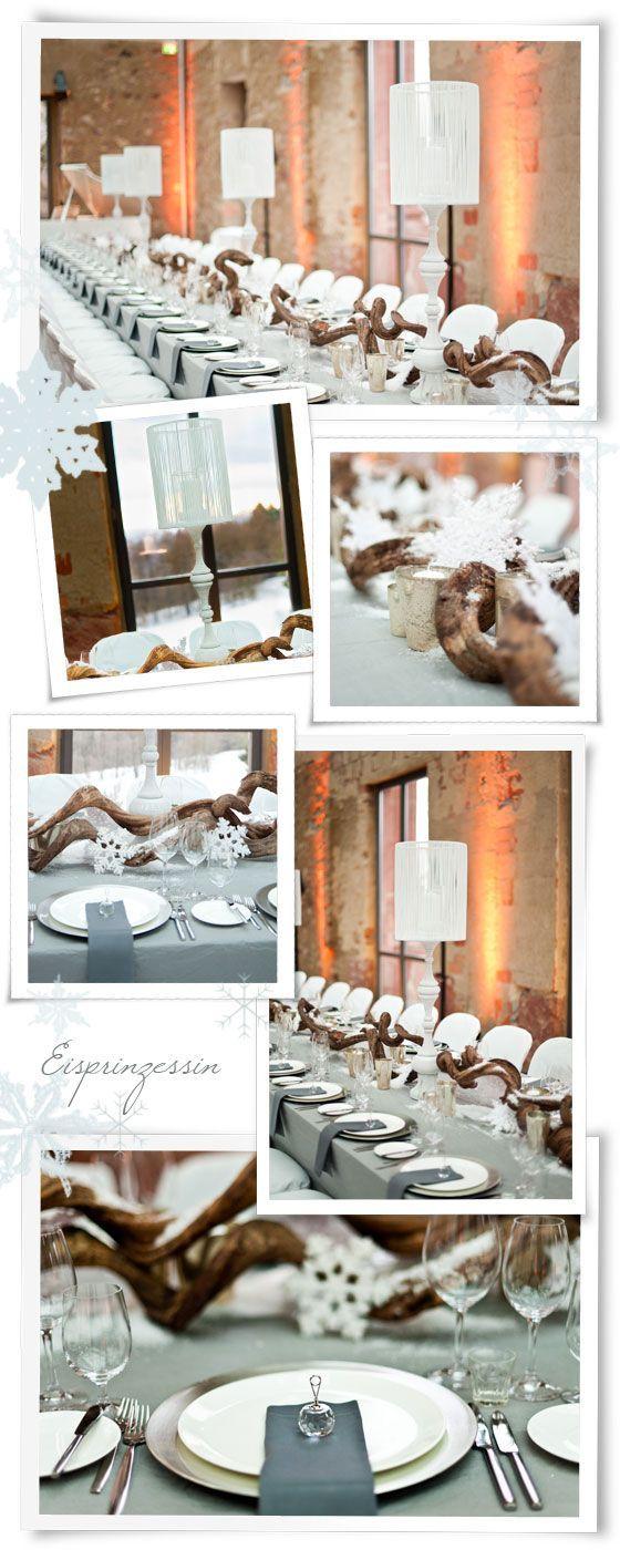 Eiskristalle Schneeflockchen Eine Winterliche Hochzeitsdeko