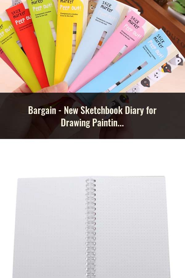 Sketchbook Diary for Drawing Soft Cover Black Paper Sketch Notebook School Tool