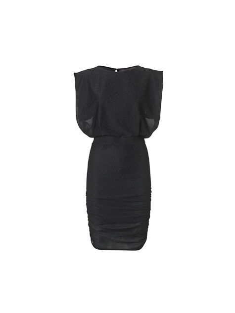 Elikan ruched lurex dress