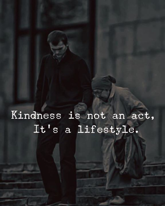 Kindness is not an act its a lifestyle. via (http://ift.tt/2Dxz2YP)