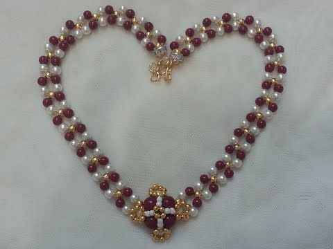 The Sparkling Red Admiral Crystal Beaded Bracelet - YouTube