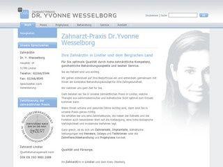 http://www.zahnarzt-lindlar.de/ Zahnärztin Dr.Yvonne Wesselborg die Zahnarzt-Praxis in Lindlar Hauptstraße 14 Spezialistin für Zahnmedizin im Alter, Prophylaxe und Zahnersatz