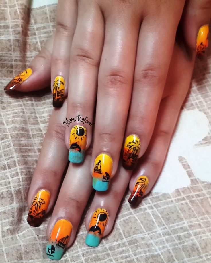62 best my nail art images on pinterest nailart the ojays and fun sunset at the beach shany plate b sh19 mj ii iii prinsesfo Image collections
