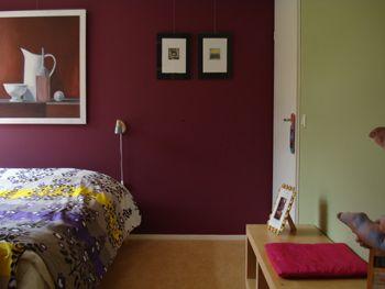 slaapkamer aubergine