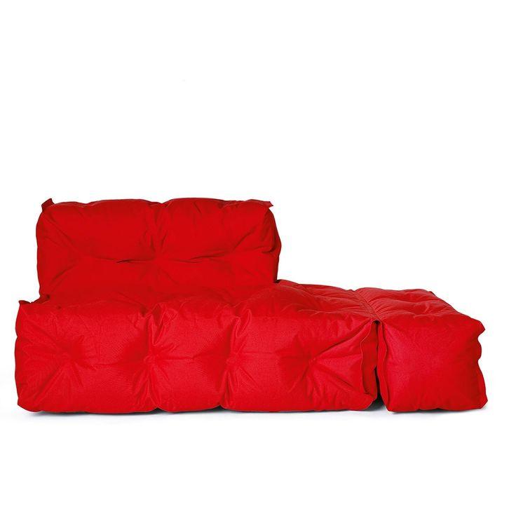 Perfekt Outdoor Couch II Zweisitzer Rot, Abklappbare Armlehne Rechts
