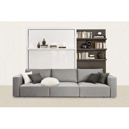 Крупных размеров шкаф-кровать отлично подойдёт для большой комнаты. Как и все наши модели, Atom не без изюминки: в дневное время кровать убирается в шкаф, открывая при этом диван и тем самым превращая спальню в гостевую комнату.  Обратите внимание, при разложенной кровати рядом с ней остается краешек дивана, выполняющий функции дополнительного уютного кресла.