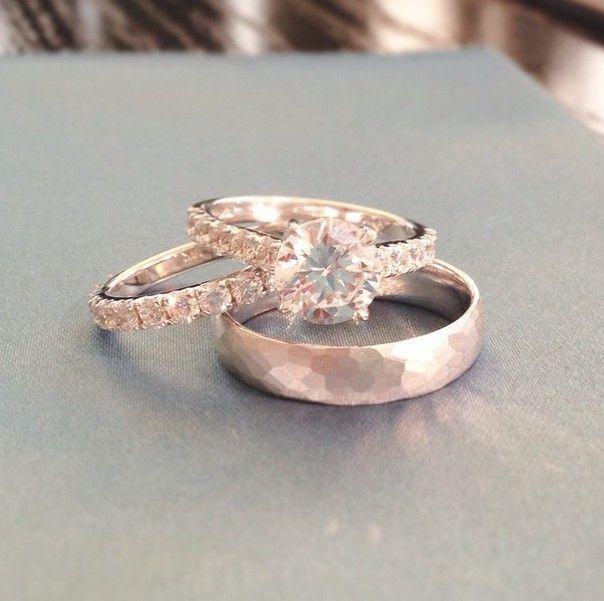 Brilliant Earth diamond ring set