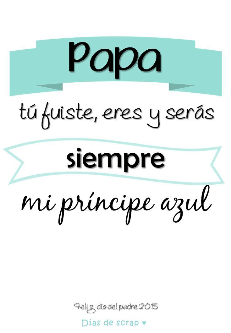 Cartel descargable para el dia del padre #freebie #laminas #diadelpadre