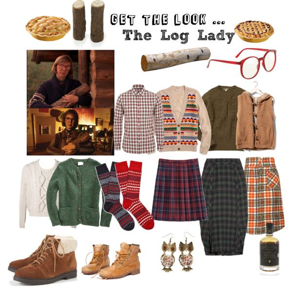 """Get the look ... The Log Lady"" by sunshineshoegaze on Polyvore #twin_peaks #log_lady"