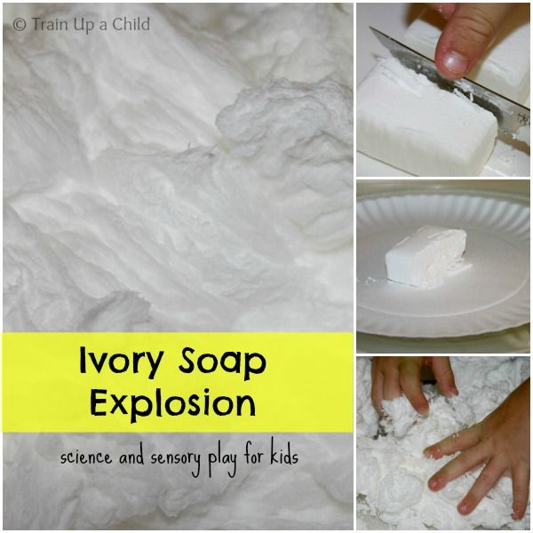 Train Up a Child: Glowing Clean Mud - Ivory Soap Explosion with a Twist