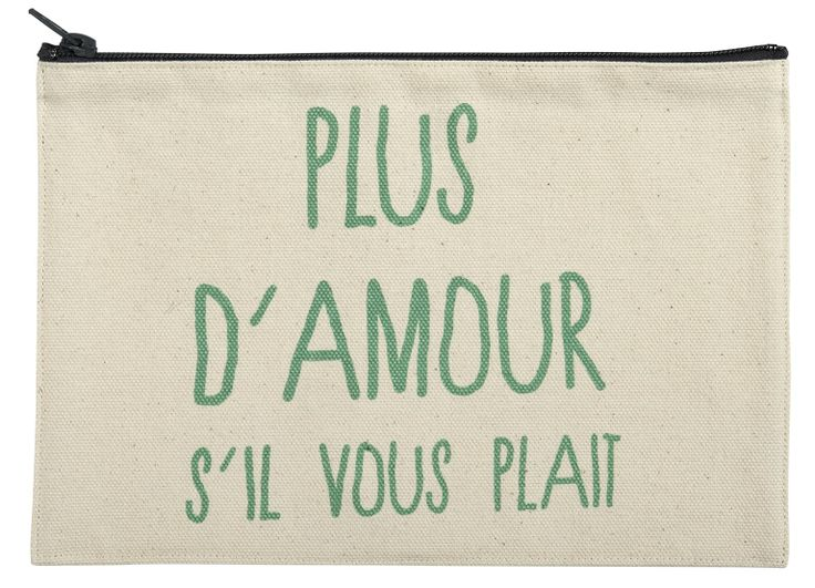 Trousse plus d'amour s'il vous plait - la cerise sur le gateau - idée cadeau saint valentin - lovers - pour les amoureux - amour et humour -