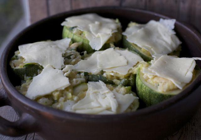 receta zapallos italianos rellenos