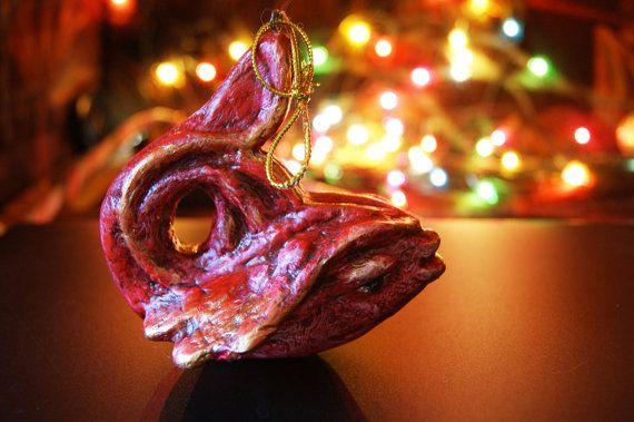 Christmas tree toy Fish home decor Christmas by LoveBeadJewerly