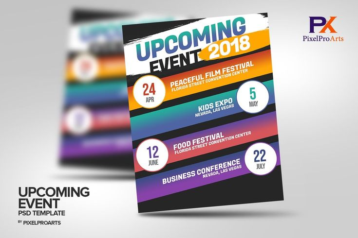 Events Flyer Template Free Printable in 2020