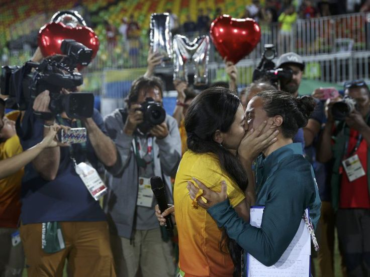 It was night of firsts at the Rio Olympics' Deodoro Stadium on Monday, as the winners of the first ever women's rugby sevens finals were announced and a Brazilian player became the first athlete to accept a marriage proposal at the Games.