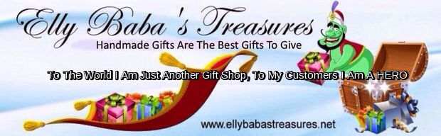 Elly Baba's Treasures  Do what you do best and shop for handmade gifts.  Christmas is creeping up quickly.