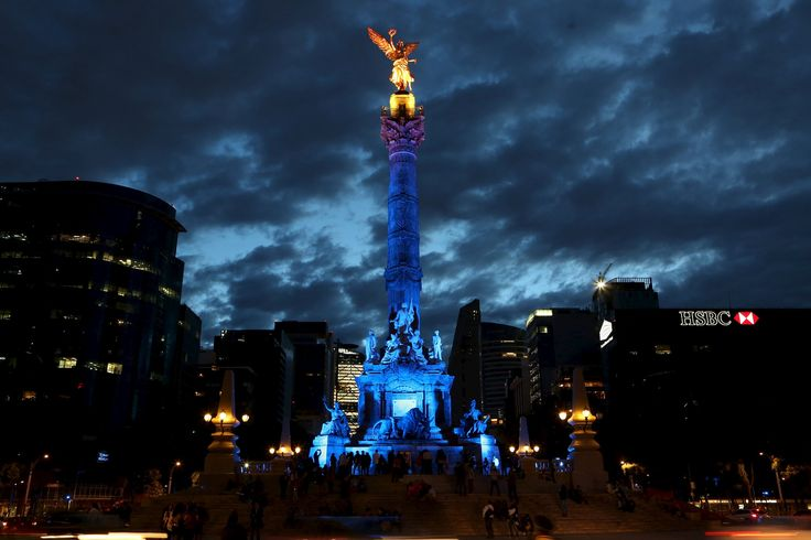 The Angel of Independence in Mexico City, Mexico.  Photograph: Reuters
