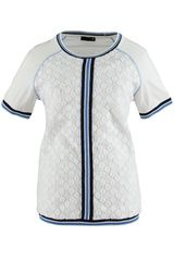 Rabe - shirt met strepen en kant-detail