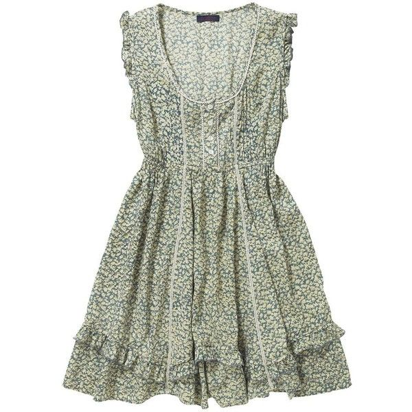 Multi coloured time for tea dress found on Polyvore
