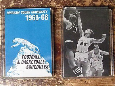 1965/66 and 1966/67 Brigham Young Cougars basketball schedules *NrMT*  BYU