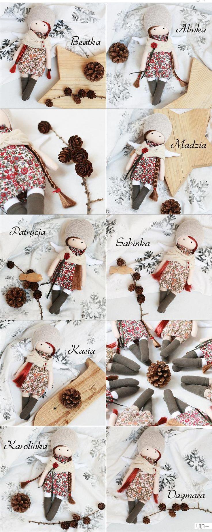 aniołki szyte ręcznie / angels handmade