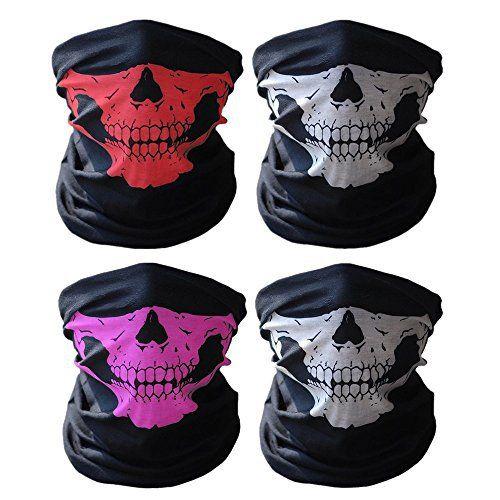 ECOMBOS 2pcs Multifonction Tour de Cou Cagoule Microfibre Crâne Chapeaux Tube Masque Visage: 100 % respirant en microfibre Polyester (cesse…