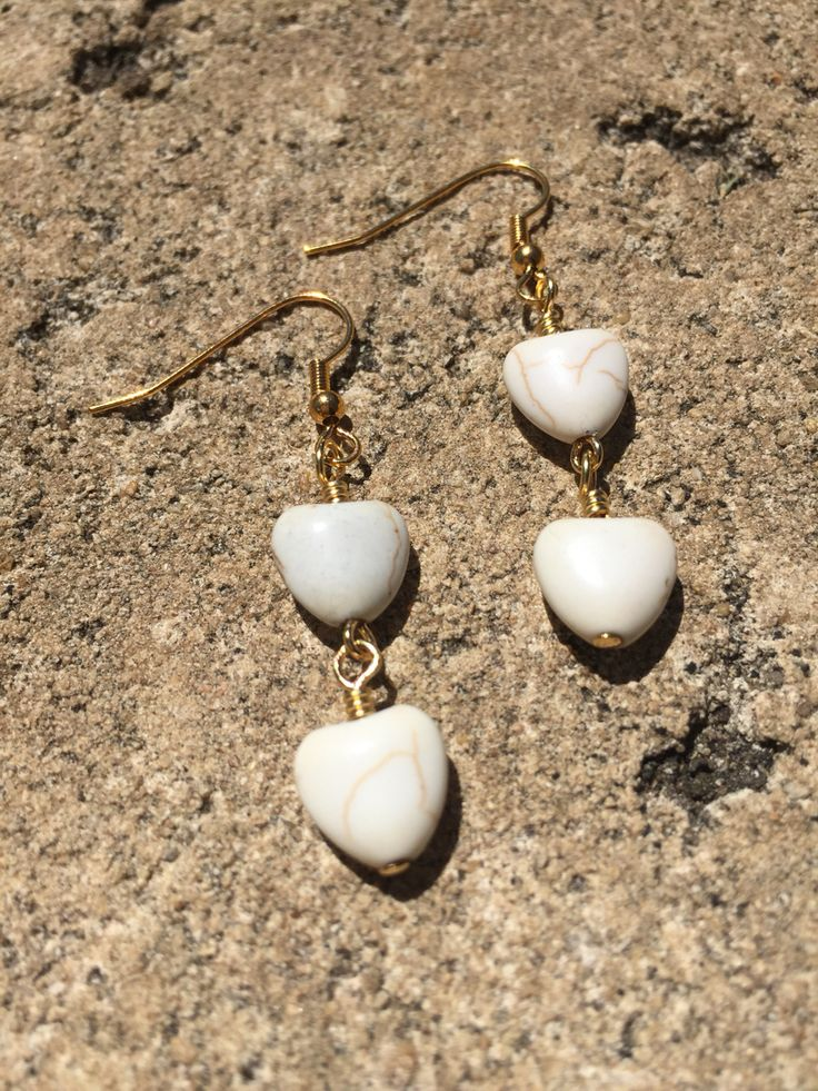 Magnesite hearts earrings. $6.95 via http://www.divineaura.com.au/product/magnesite-heart-earrings-gold-tone/ or find me on facebook @ www.facebook.com/divineaura123