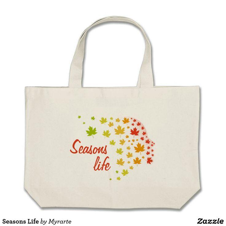 Seasons Life. Producto disponible en tienda Zazzle. Accesorios, moda. Product available in Zazzle store. Fashion Accessories. Regalos, Gifts. #bolso #bag