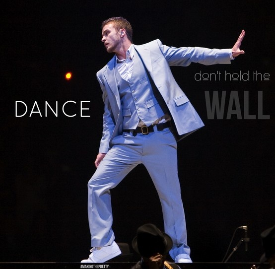 """Lyric poster for """"Don't Hold the Wall"""" - a good track on the Justin Timberlake album 20/20 experience."""