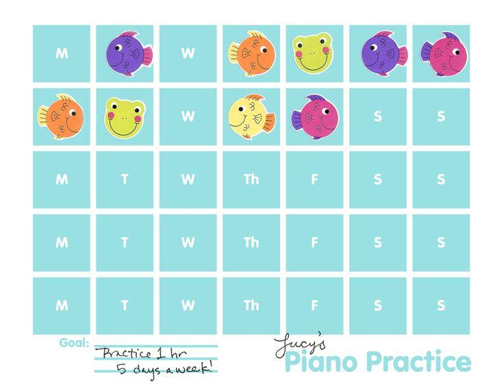 Piano Practice Chart Printable « « TodaysMama TodaysMama