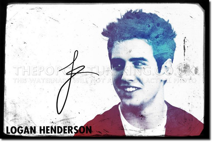 "Original art print featuring actor Logan Henderson. This original piece is designed by artist James Rand who has had work featured in galleries around the UK. The print is 12x8"" in size and has been produced in a limited print run. 