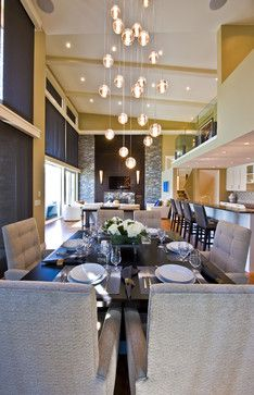 Vaulted Ceiling Lighting Dining Design Ideas Pictures Remodel And Decor
