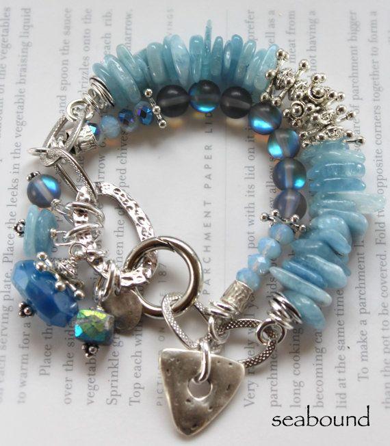 bracelet aquamarine bracelet chrysocolla bracelet by soulfuledges