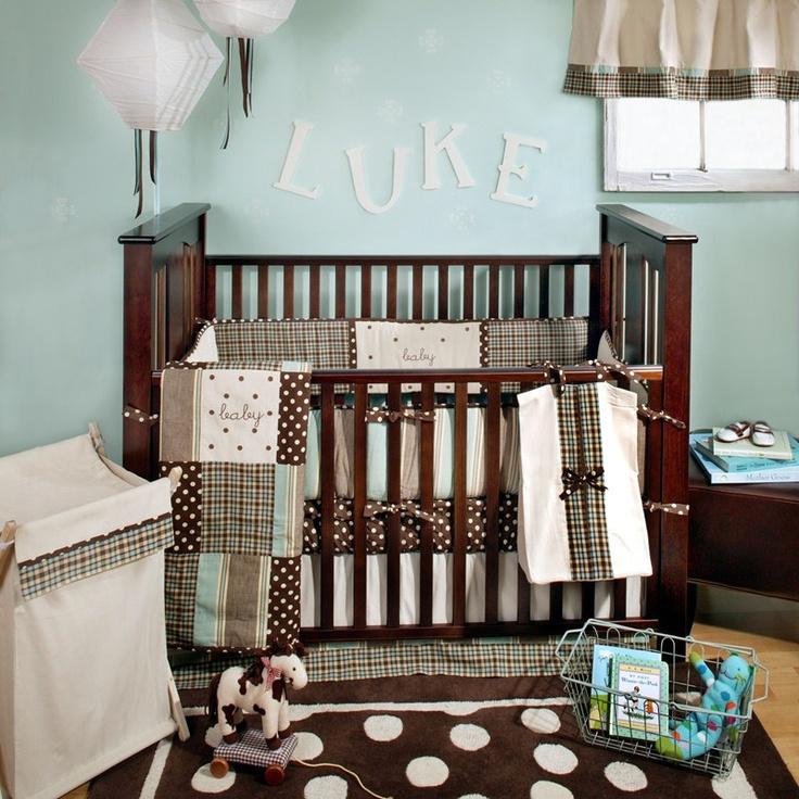 My Baby Sam Mad About Plaid 4 Piece Crib Bedding Set Blue For Boys