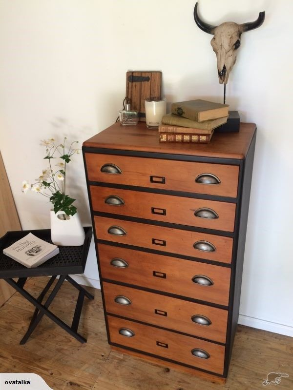This chest of drawers  is a Beautiful piece of reclaimed rimu furniture, lovingly restored with a handcrafted industrial  finish.