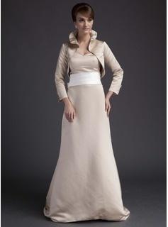 Robes de Soirée  de Mariage Gaine Cœur Traine longue Satin Robes de Demoiselle d'Honneur avec Bretelle (007001464)