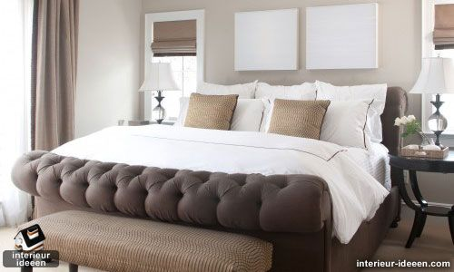 Bruine slaapkamer voorbeelden