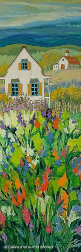 Claudette Castonguay, 'Ce sera une journée de rêve...', 12'' x 36'' | Galerie d'art - Au P'tit Bonheur - Art Gallery