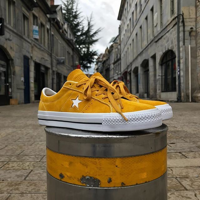 aee0eae8c904d6 The  converse One Star Pro Suede in Mineral Yellow is now available ✨   chezmolly  besançon  converse  onestar