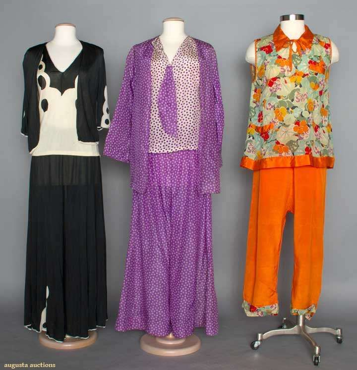 Three Ladies Pajama Sets, 1920s, Augusta Auctions, April 9, 2014 - NYC, Lot 70