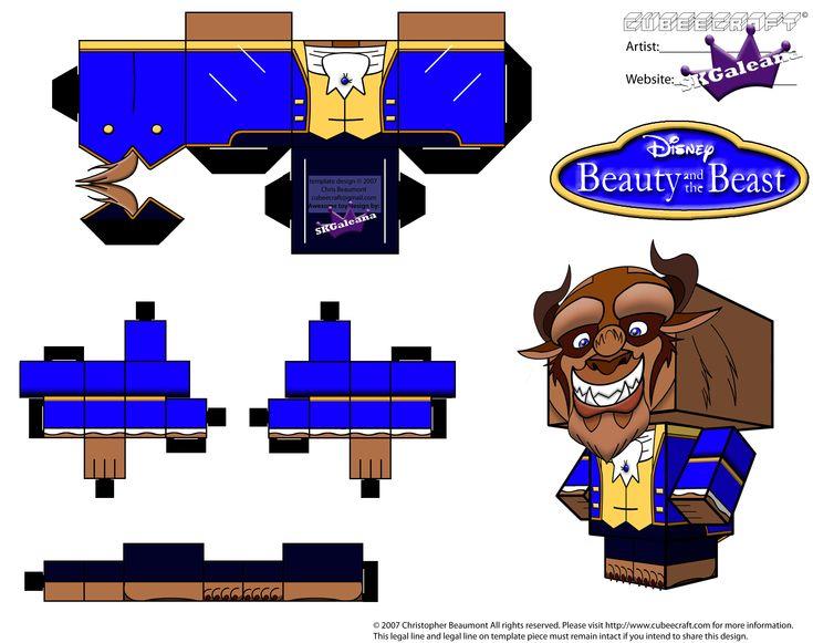 Sencillos cubeecraft de personajes de Disney. - Manualidades a Raudales