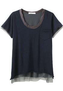 ....maybe a tulle or lace shirt-tail? http://www.hotpatterns.com/hp-1173-metropolitan-domino-sweat-shirt/