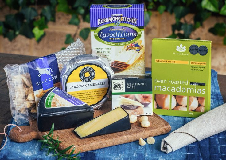 Treat Yourself Hamper - A delightful range of Camembert, Cheddar cheese, crackers, fruit paste & gourmet nuts for the ultimate self indulgence. Price $65.00  Delivery $25.00