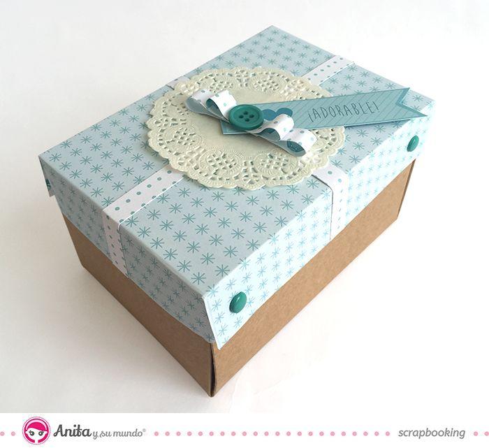 Caja explosiva o exploding box con zapato hecho de papel scrapbook 1