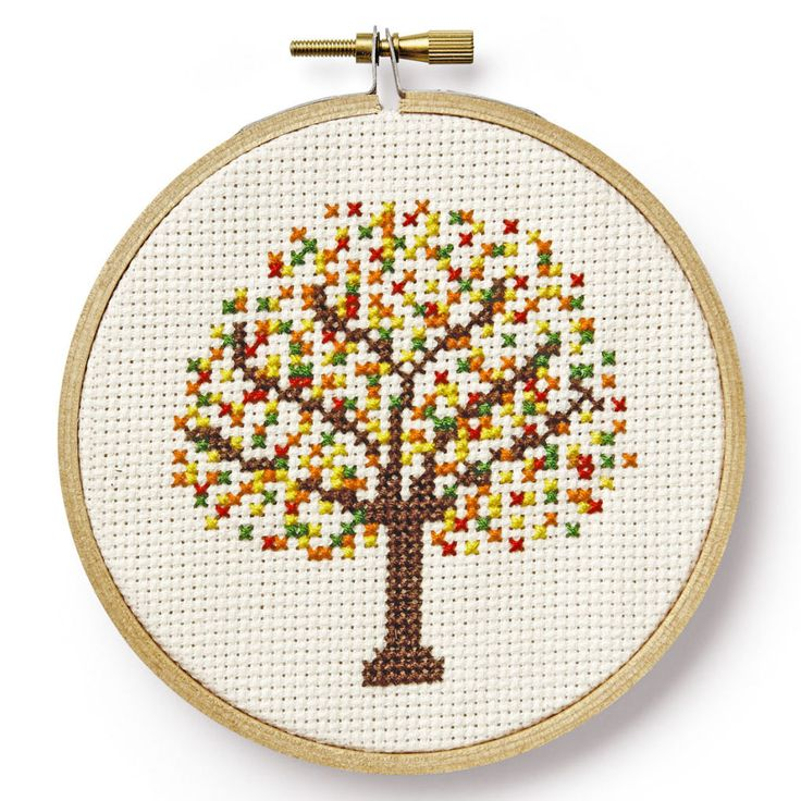 Country Living's Free Cross-Stitch Patterns-- http://www.countryliving.com/diy-crafts/a6380/cross-stitch/   I am going to cover the ground with leaves and have a few falling from the tree as well.  I might cross stitch the words Autumn Welcome too.
