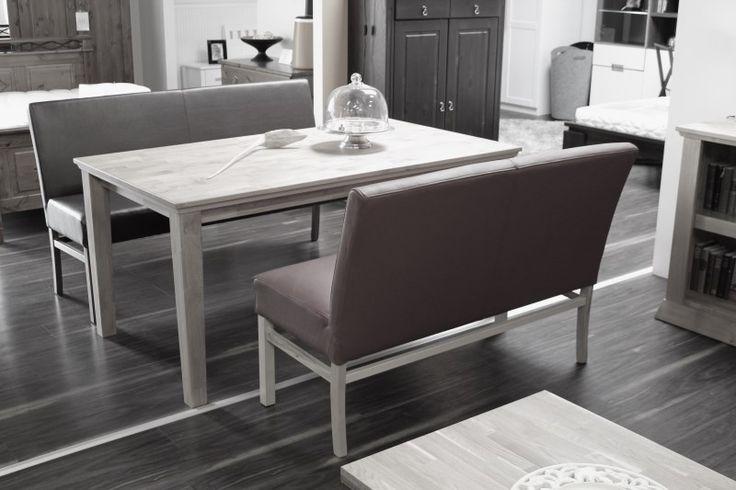 SOPHIE-180 Sitzbank Holzbank massiv in Kunstleder oder Microfaser (Stühle) - Möbel günstig kaufen