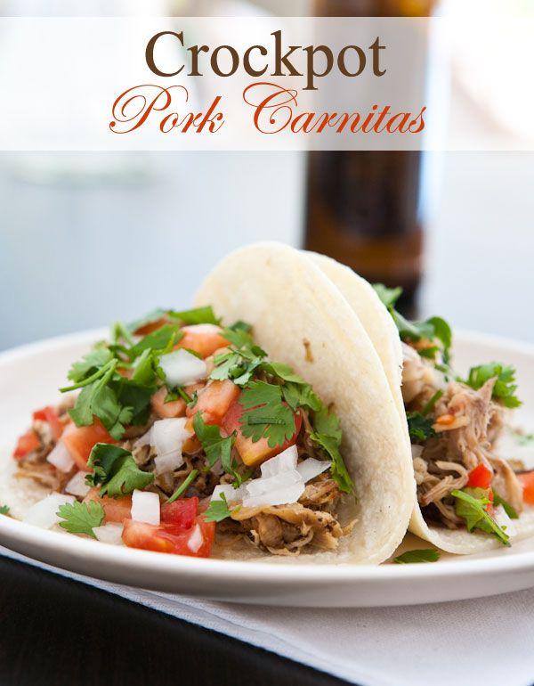 Crockpot Pork Carnitas by EclecticRecipes.com #recipe